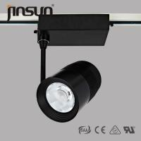 China COB LED Track light with lens, IP40, high lumen, black housing, 3 wires wholesale