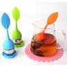 China BAP Free Food Gade Silicone Leaf shape Tea Infuser with custom logo wholesale