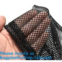 China Durable Nylon Mesh Bag with Sliding Drawstring Cord Lock Closure,Large Black Mesh Bag ECO-FRIENDLY PREMIUM WASHABLE GROC wholesale