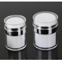 China Empty Airless Refillable Cosmetic Cream Jars Shatterproof wholesale