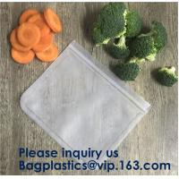 China Food Snacks Extra Thick FDA Grade Leakproof Reusable PEVA Storage Bag,Seal Reusable PEVA Storage Bags ideal For Food Sna on sale