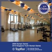 China Recycled rubber flooring for training center on sale