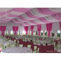 China 300 People Luxury Wedding Tents Rentals Aluminium Frame Marquee With Transparent PVC Windows wholesale