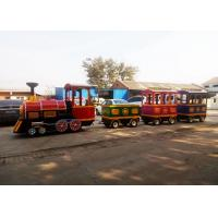 China Pollution Free Trackless Train Amusement Ride With Smoke Steam Spray Device wholesale