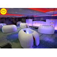 China Customized Inflatable Structure Inflatable Office Pod Tent Mini Lighting For Decoration on sale