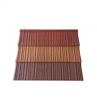 Buy cheap Construction Building Roofing Material Wood Type Stone Coated Metal Roof Tiles from wholesalers