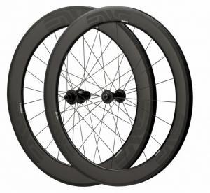 Depth 60mm Carbon Fiber Bike Wheels 23mm Width Clincher Tubular For Racing