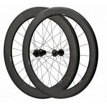 China Depth 60mm Carbon Fiber Bike Wheels 23mm Width Clincher Tubular For Racing wholesale