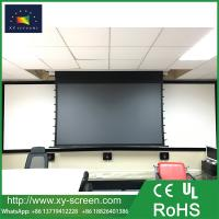 100 120 150 daylight screens anti light tab tension for Motorized retractable projector screen