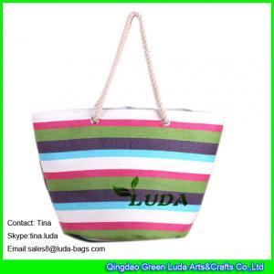 China LUDA summer paper straw bags ladies designer straw handbags on sale