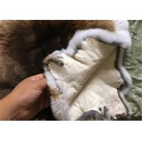 China 30*40cm Smooth Dyed Rabbit Fur Pelts Warm Comfortable For Winter Garment wholesale