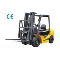 Buy cheap 2500kg Four Wheel Forklift Gas Powered With Three Stage Mast Lift Height 6m from wholesalers