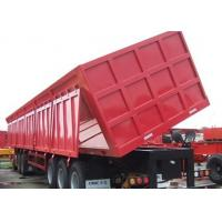 China Hydraulic dump trailer for tractor / Cargo dump box trailers Tri Axle Dump Truck Trailers on sale