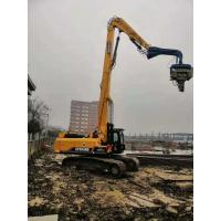 China High Accuracy Excavator Mounted Vibratory Hammer Pile Driver Quick Running Speed wholesale