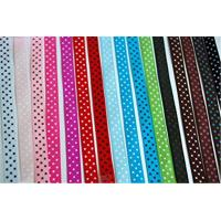 China Solid Color Stretch Grosgrain Ribbon Narrow Woven Technics For Gift Wrapping wholesale