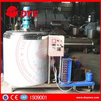 China Dairy Stainless Steel Milk Tank With Cooling System Control Panel CE certificated wholesale