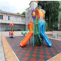 China Outdoor rubber safety flooring rubber mat for playground elder center wholesale