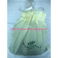 Recyclable Hotel Laundry Drawstring Plastic Bags With LDPE Material
