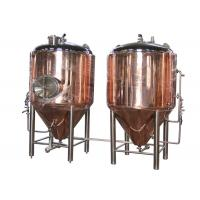 China Copper 500 Gallon Conical Beer Fermenter As Beer Brewing Equipment wholesale