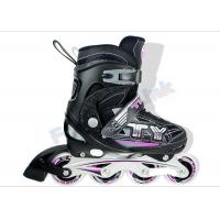 China Aluminum Chassis Semi-Soft Inline Skate Shoes for Boys and Girls White Pink Blue on sale