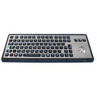 China Brushed backlight industrial metal trackball keyboards for industrial & military wholesale