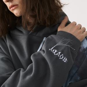 China 35% Polyester 58% Cotton Plain Black Pullover Hoodie 300g Long Sleeve Custom Logo wholesale