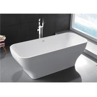 Quality Modern Acrylic Free Standing Bathtub Single / Double Ended Tub Roll Top Thin Edge for sale