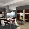 China Villa Project Rosewood Veneer Modular Kitchen Cabinets Artificial Stone Countertop wholesale