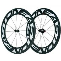 China 700C Carbon Fiber Bike Wheels Customized Logo 88mm With 125kg Max Rider Weight wholesale