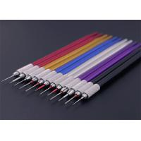 Multiple Colour Semi Permanent Eyebrow Tattoo Pen Round Lock Needle