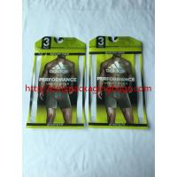 Buy cheap Recyclable Poly Bags With Hangers , Clothing Plastic Packing Bags With Plastic from wholesalers