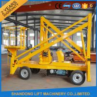 China 10m Diesel Engine Aerial Trailer Mounted Boom Lift Hire , Towable Articulating Boom Lift wholesale