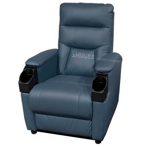 China Genuine Leather Home Cinema Seats VIP Sofa With Inclined Cup Holder wholesale