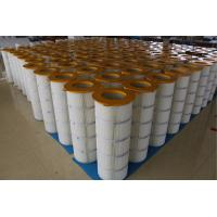 China Iron Cover Pleated Filter Cartridge Three - Lugs For Large Dust Concentration wholesale