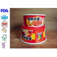 China Take Away Paper Salad Bowls , Kraft Paper Food Containers Match With Lid wholesale