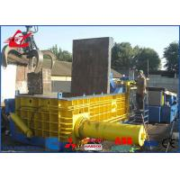 Buy cheap Heavy Duty Copper Tubes Stainless Steel Pipes Scrap Metal Compactor Baling Press 74kW from wholesalers