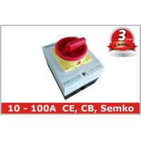 China Surface Mounted 32A Rotary Isolator Switch 4 Pole / Electrical Isolation Switch wholesale