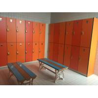 China PVC Material Double Tier Lockers , Orange Small Employee Lockers For Factory wholesale
