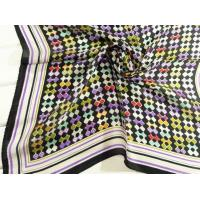 China Ladies 2013 Fashion  100% silk small Square Silk Scarf/black scarves for women 53*53CM wholesale
