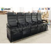 China Electric Dynamic System 4D Cinema Equipment Red / Black Cinema Chair For Theater wholesale