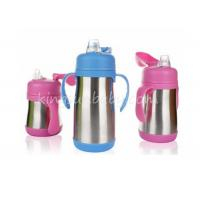 China Vacuum Red Stainless Steel Baby Bottle For Infant Nursing Non Spill Leak Proof Straw Lid wholesale