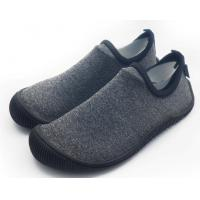 China Foldable Unisex Pvc Sole Shoes Soft Scuba Knitting Fabric Direct Injection wholesale