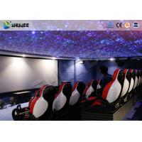 China 5D Movie theater With Pneumatic / Hydraulic / Electronic Control Motion Chairs wholesale