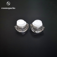 China 5g 10g Special Shape Clear Two Layers Acrylic Plastic Cream Jars wholesale