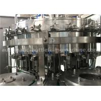 China 6.57KW Power Carbonated Drink Filling Machine PE Srew Cap For Gas Contained Beverage wholesale