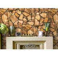 Buy cheap 3D Effect Stone Pattern Durable Popular Wallpaper For House Wall With Pvc Material from wholesalers