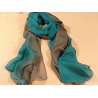 China 2013 new fashion blue and brown gradient color Hand Painted Silk Scarf/chiffon scarves shawls wholesale