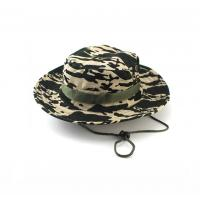 China 100% Cotton Fisherman Bucket Hat With Strings Plain Pattern Quick Dry wholesale