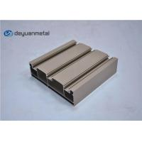 China Standard Tan Powder Coating Aluminum Extrusions Shapes With Alloy 6063-T5 on sale