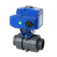 China Motorized Actuated True Union PVC Double Union Electric Plastic Ball Valve wholesale